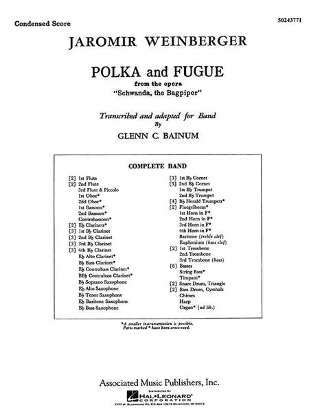 Polka & Fugue Concert Condensed Score From Schwanda The Bagpiper