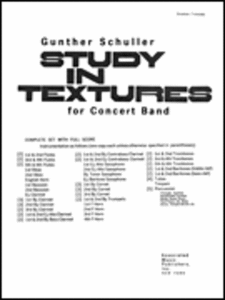 Study In Textures For Band Full Score