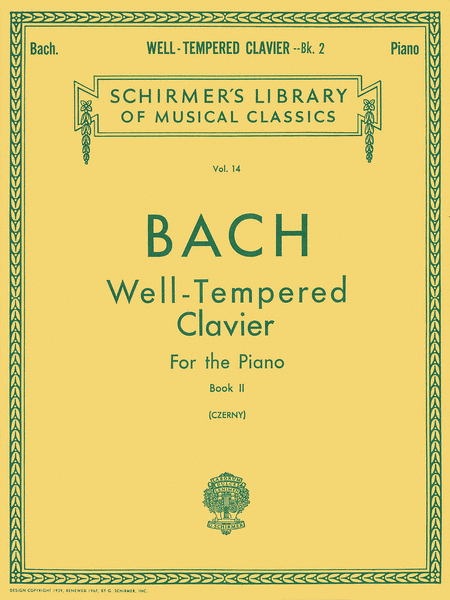 Well Tempered Clavier - Book 2