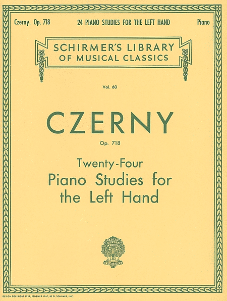 24 Studies for the Left Hand, Op. 718