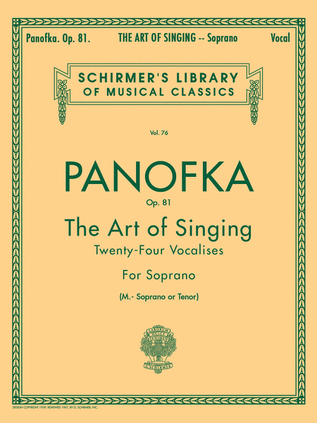 Art of Singing (24 Vocalises), Op.81
