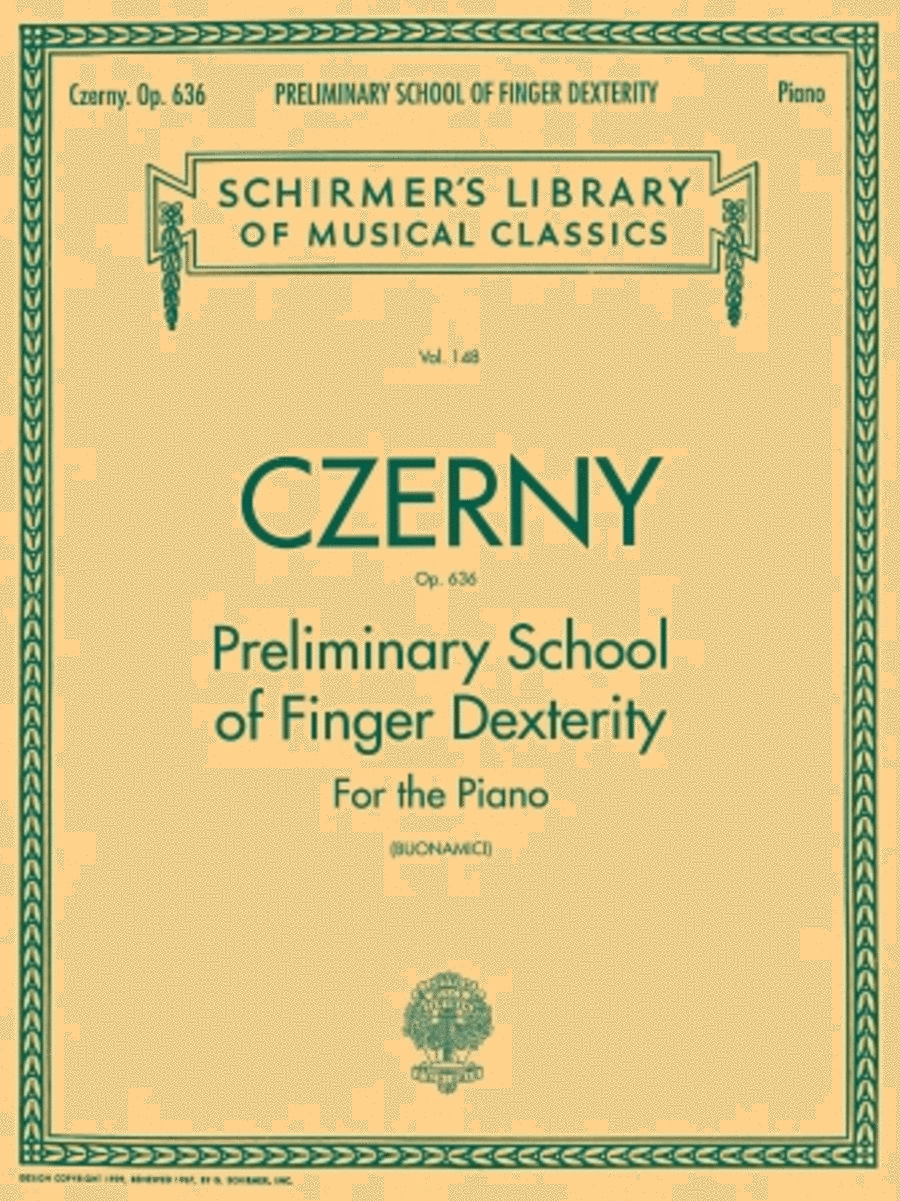 Preliminary School of Finger Dexterity, Op. 636