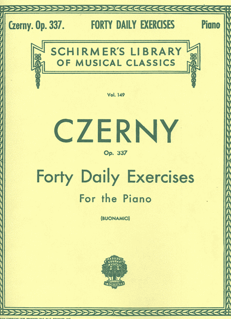 40 Daily Exercises, Op. 337