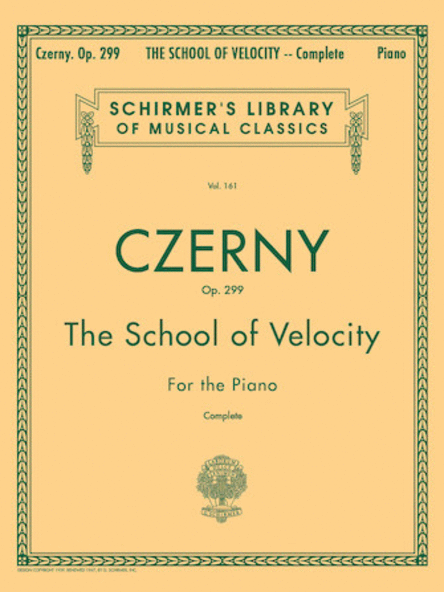 School Of Velocity, Op. 299 - Complete