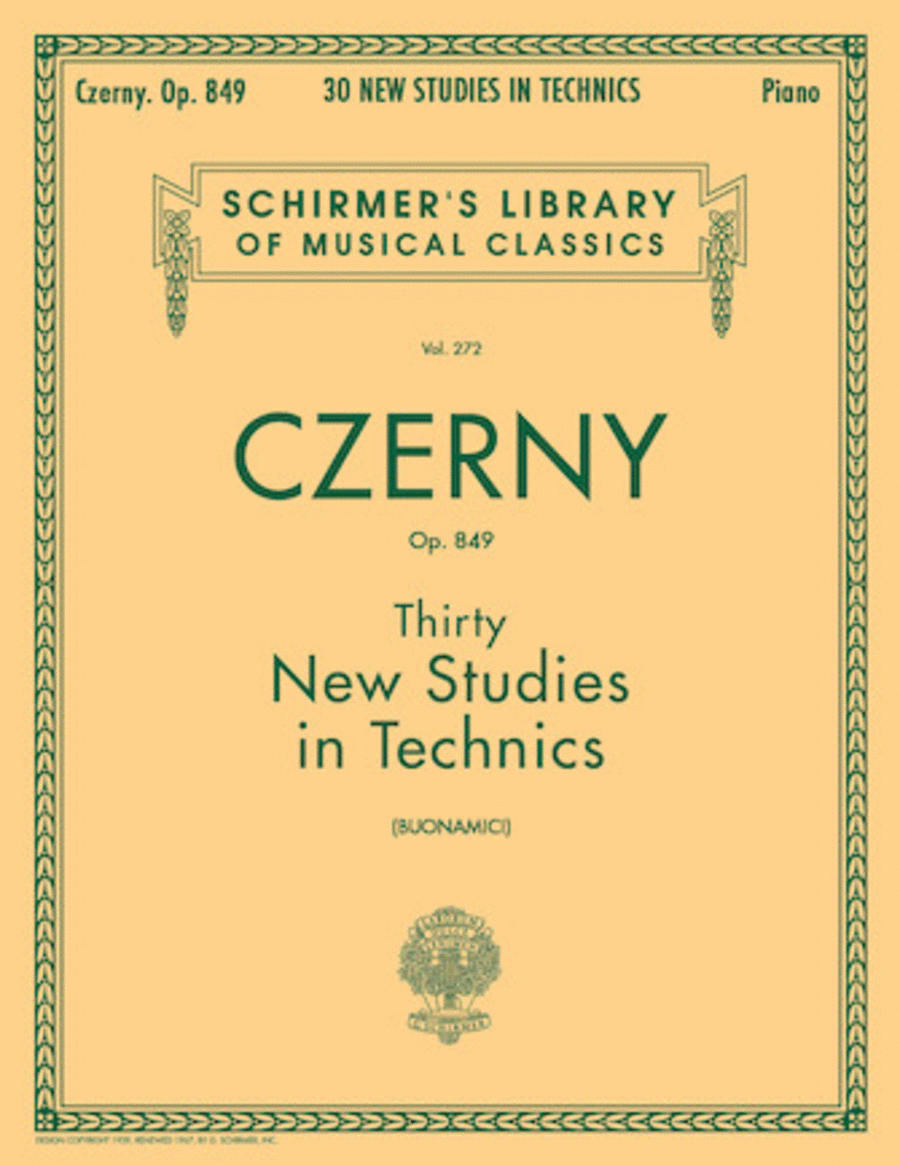 Thirty New Studies In Technics, Op. 849