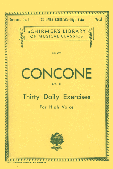 30 Daily Exercises, Op. 11