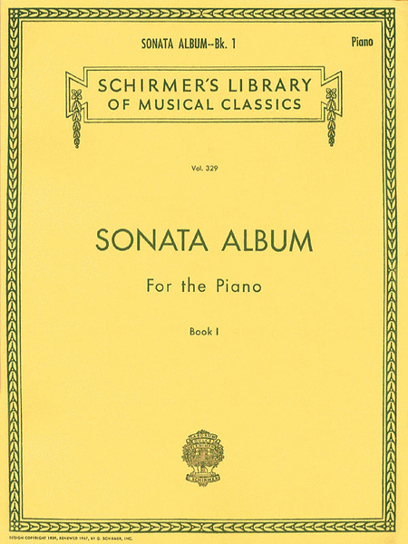 Sonata Album for the Piano - Book 1