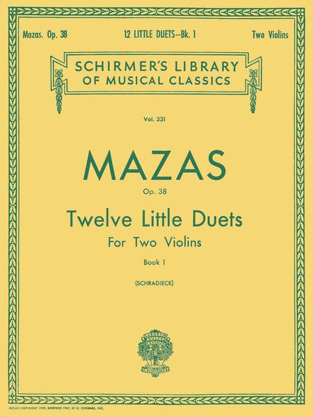 12 Little Duets, Op. 38 - Book 1