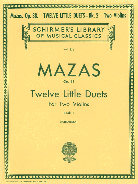 12 Little Duets, Op. 38 - Book 2