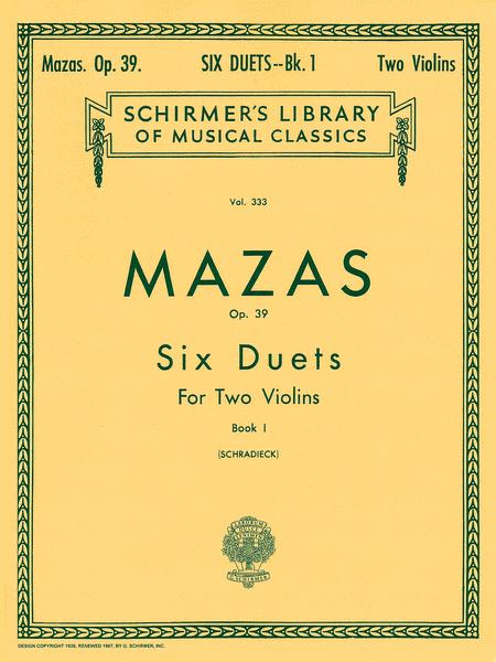 6 Duets, Op. 39 - Book 1