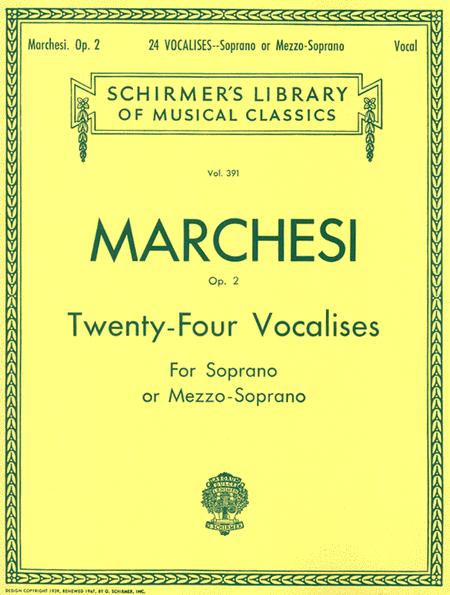 24 Vocalises, Op. 2