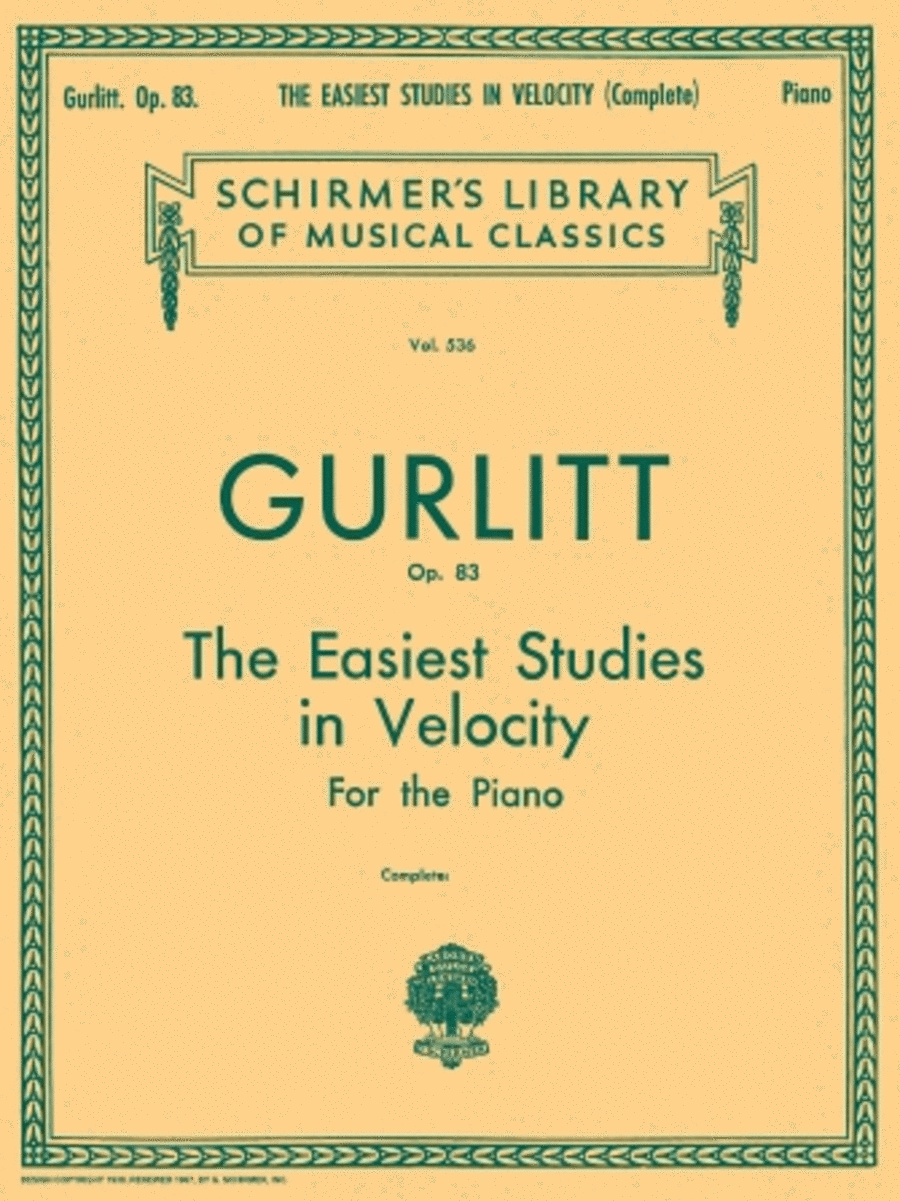 Easiest Studies in Velocity, Op. 83