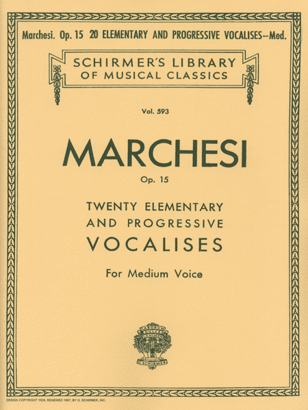 20 Elementary and Progressive Vocalises, Op. 15