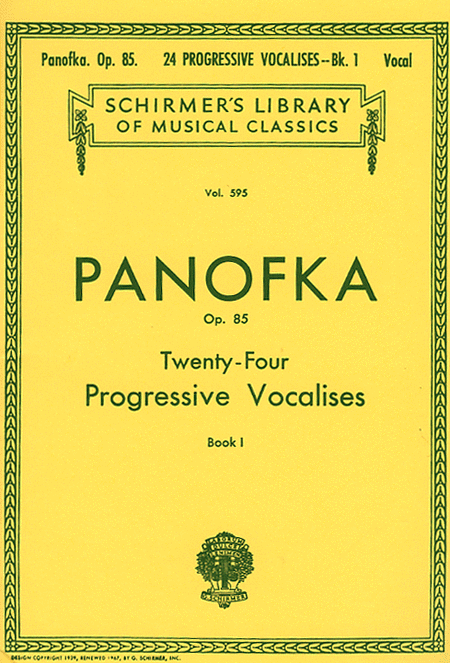 24 Progressive Vocalises, Op. 85 - Book 1
