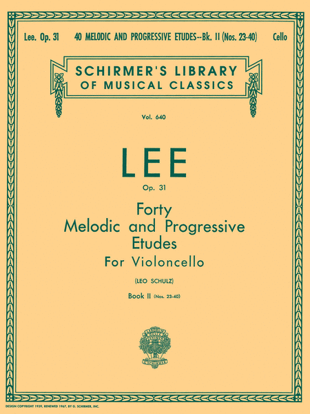 40 Melodic and Progressive Etudes, Op. 31 - Book 2