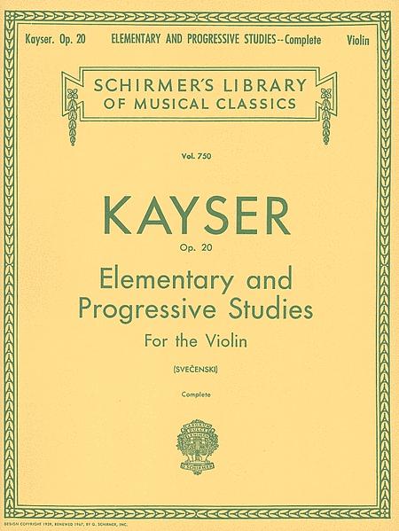 36 Elementary & Progressive Studies, Op. 20 - Complete