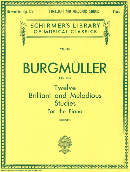 12 Brilliant and Melodious Studies, Op. 105