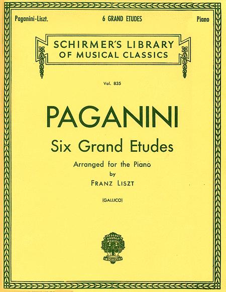6 Grande Etudes - Paganini/Liszt