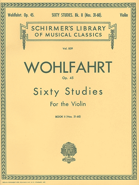 60 Studies For The Violin, Op. 45 - Book 2 (Nos. 31-60)