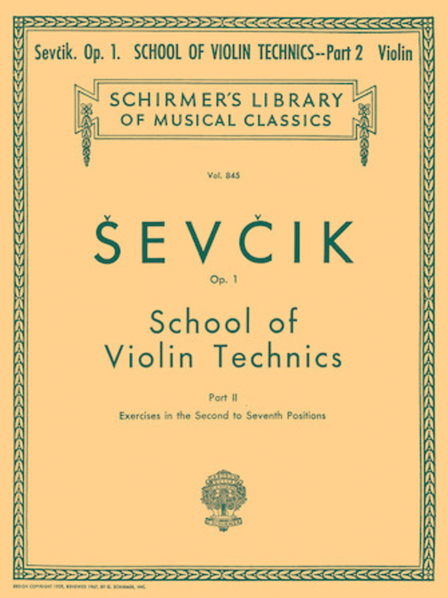 School of Violin Technics, Op. 1 - Book 2