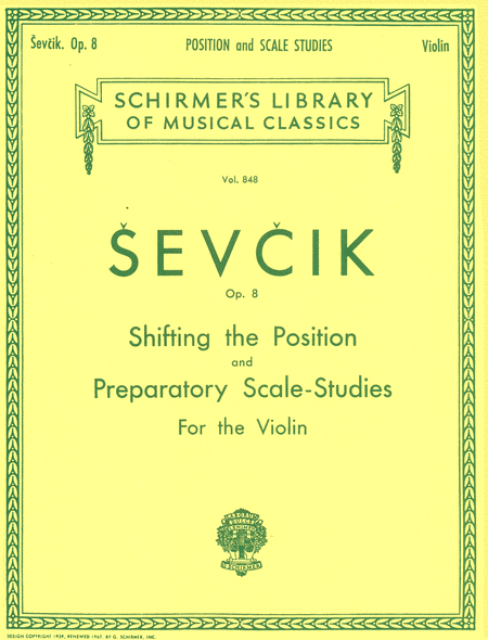 Shifting the Position and Preparatory Scale Studies, Op. 8 (Violin)