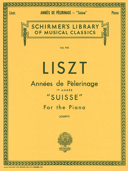 Annee De Pelerinage - Book 1: Suisse