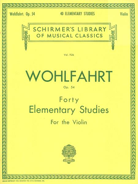 40 Elementary Studies, Op. 54