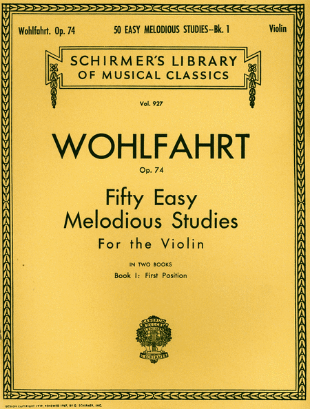 50 Easy Melodious Studies, Op. 74 - Book 1