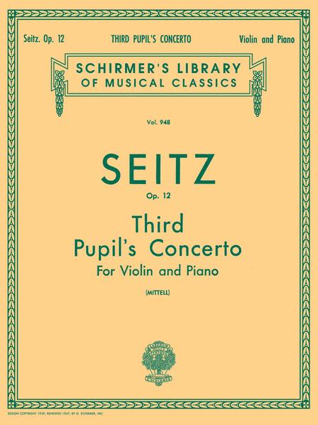 Pupil's Concerto No. 3 In G Minor, Op. 12 - Violin/Piano