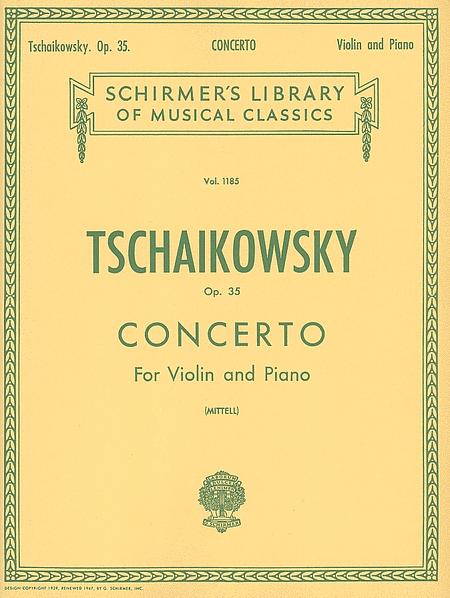 Violin Concerto, Op. 35 - Violin/Piano