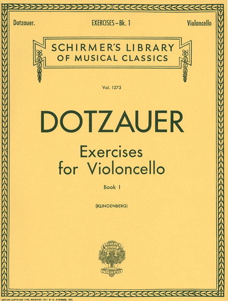Exercises for Violoncello - Book 1