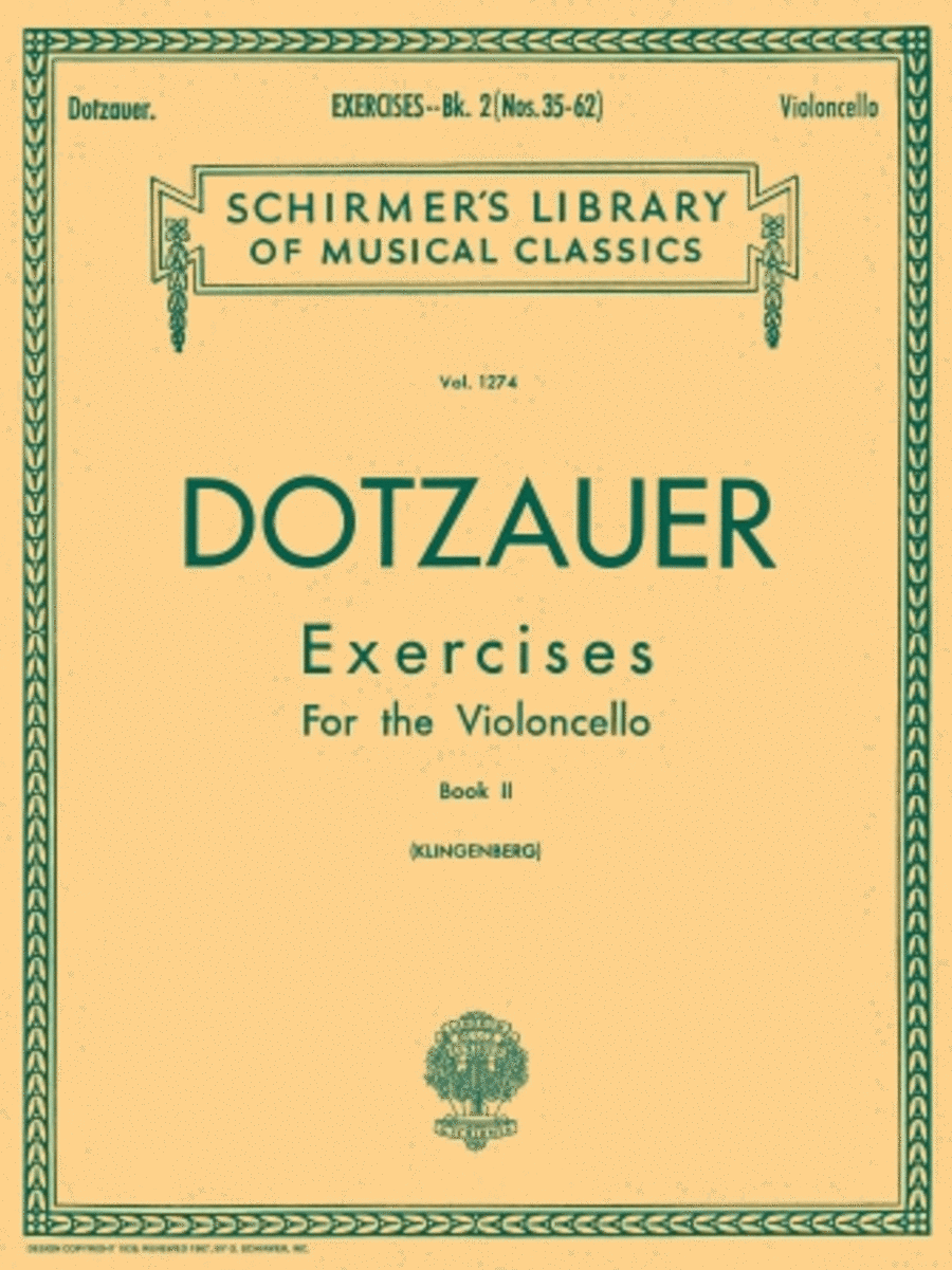 Exercises for Violoncello - Book 2
