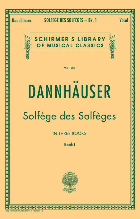 Solfege des Solfeges - Book I