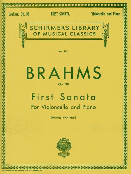 Sonata No. 1 In E Minor, Op. 38 - Cello/Piano
