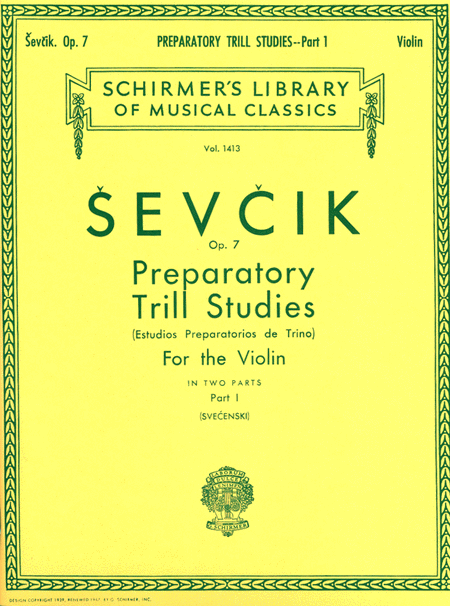 Preparatory Trill Studies, Op. 7 - Book 1