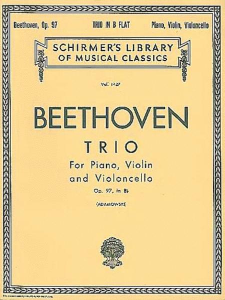 Trio in B Flat, Op. 97 (Archduke Trio)