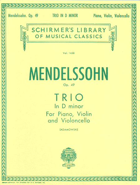 Trio in D Minor, Op. 49