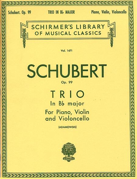 Trio In B Flat, Op. 99