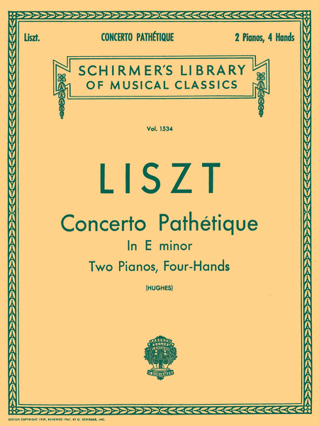 Concerto Pathetique in E Minor (2-Piano Score)