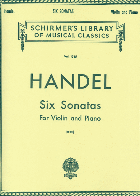 Six Sonatas - Piano / Violin