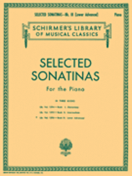 Selected Sonatinas - Book 3: Lower Advanced