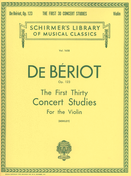 First 30 Concert Studies, Op. 123