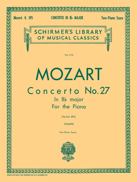 Concerto No. 27 in Bb, K.595