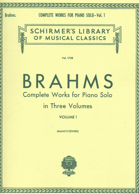 Complete Works For Piano Solo - Volume 1