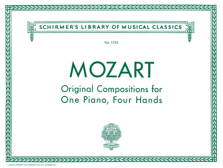 Original Compositions for One Piano, Four Hands