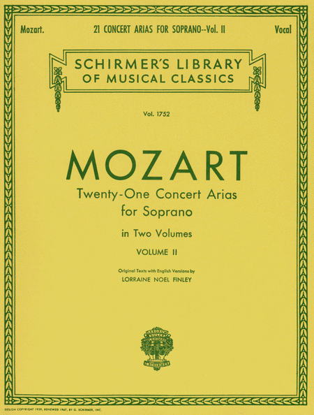 21 Concert Arias For Soprano - Volume II