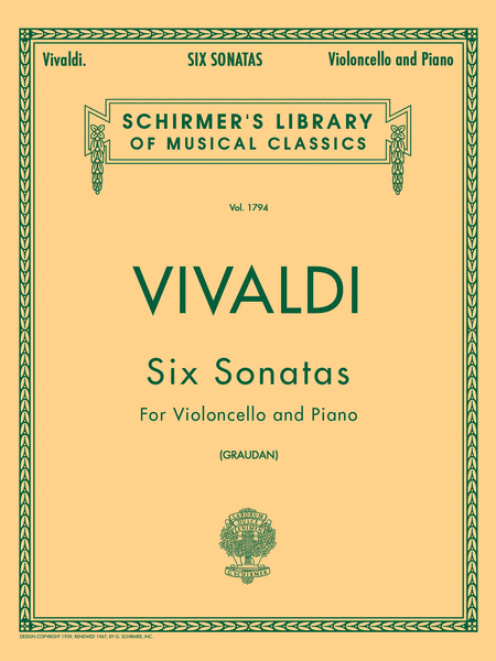 6 Sonatas For Cello And Piano