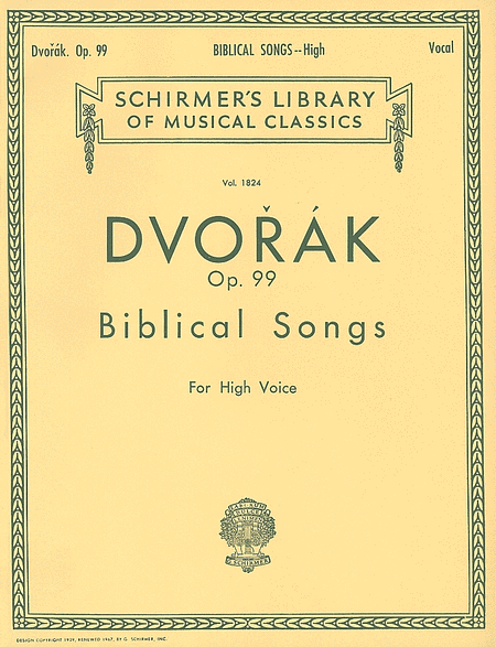 Biblical Songs, Op.99 - High Voice