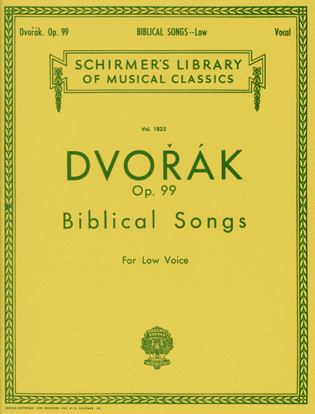 Biblical Songs, Op.99 - Low Voice