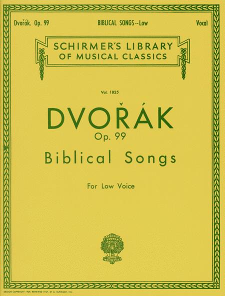 Biblical Songs, Op.99 - Low Voice